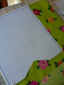 Measuring Template and Fabric for DIY Purse